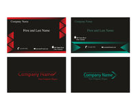 Business cards with arrow logo. Business cards with abstract arrow logo stock illustration