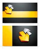 Business cards with arrows Stock Photos