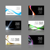 Business Cards Assortment. An assortment of 6 modern business card templates - print ready and fully customizable. These include .25 inch bleed. Cards are 3.75 x Royalty Free Stock Image