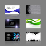 Business Cards Assortment. An assortment of 6 modern business cards - templates that are print ready and fully customizable. These include .25 inch bleed. Cards Royalty Free Stock Photo