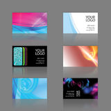 Business Cards Assortment. Assortment of 6 modern business card designs - templates that are print ready and fully customizable. These editable cards include .25 Royalty Free Stock Photo