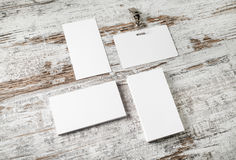 Business cards and badge Royalty Free Stock Images