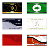 Business cards, banners, backgrounds, and logos. Vector multicolor set of business cards / banners / wallpapers, with genuine logos, fully editable with no Royalty Free Stock Photography