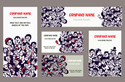 Business cards and banners for the company Royalty Free Stock Image