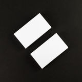 Business cards on black Stock Image