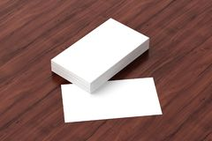 Business cards blank mockup - template, 3D illustration. 3d render of Business cards blank mockup - template, 3D illustration Royalty Free Stock Photos