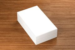 Business cards blank mockup - template, 3D illustration. 3D Render Of Business cards blank mockup - template, 3D illustration Stock Photo
