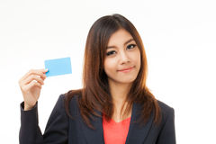 Business cards and blank signs Stock Image