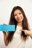Business cards and blank signs Royalty Free Stock Image