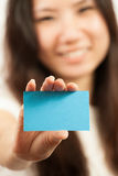Business cards and blank signs Royalty Free Stock Images