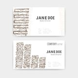 Business cards with books texture Stock Photo