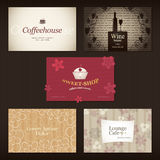Business cards. For cafe and restaurant Royalty Free Stock Image