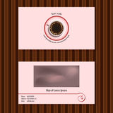 Business cards for cafe Stock Image