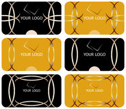 Business cards collection. Business cards set. Vector in two color variants Stock Photo