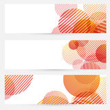 Business cards collection - circle retro pattern Stock Photos