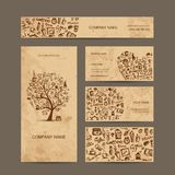 Business cards collection with coffee concept Stock Photography
