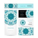 Business cards collection, floral design Stock Photo