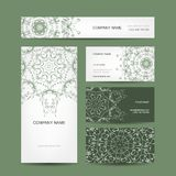 Business cards collection, floral design Stock Photography