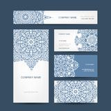 Business cards collection, floral design Stock Images