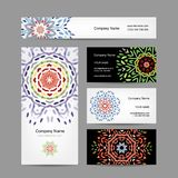 Business cards collection, floral design Royalty Free Stock Image