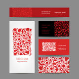 Business cards collection, floral design Royalty Free Stock Photography