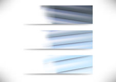 Business cards collection - layered metal Stock Images