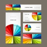 Business cards collection for your design Stock Photos