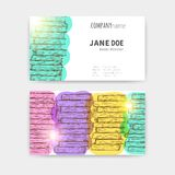 Business cards with colorful books texture Royalty Free Stock Image