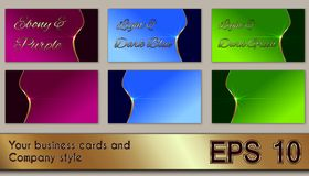 Business cards and company style Stock Image