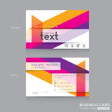Business cards Design with abstract colorful banding shape background. Business cards Design Template with abstract colorful banding shape background vector illustration