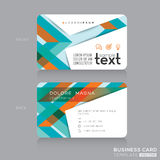 Business cards Design with abstract colorful banding shape background Stock Image