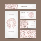 Business cards design, cosmetics and accessories Royalty Free Stock Photo
