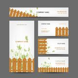 Business cards design, country style Royalty Free Stock Photo