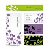 Business cards design, floral bouquet Stock Images