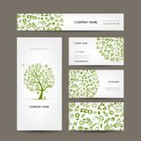 Business cards design, green ecology concept Stock Photo
