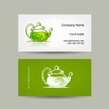Business cards design, green trea sketch Royalty Free Stock Photos