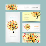 Business cards design, holiday tree Royalty Free Stock Photos