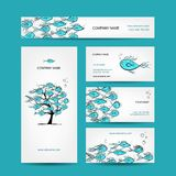 Business cards design, marine theme Royalty Free Stock Photos