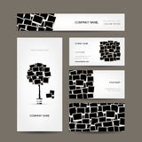 Business cards design, photo frames Royalty Free Stock Image