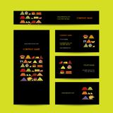 Business cards design, shelves with fruits Stock Image