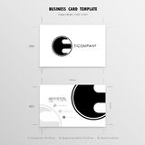 Business Cards Design Template. Name Cards Symbol. Size 55 mm x Royalty Free Stock Image