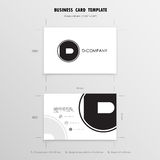 Business Cards Design Template. Name Cards Symbol. Size 55 mm x. 90 mm 2.165 in x 3.54 in.Vector illustration Royalty Free Stock Images