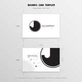 Business Cards Design Template. Name Cards Symbol. Size 55 mm x Stock Photography