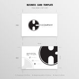 Business Cards Design Template. Name Cards Symbol. Size 55 mm x. 90 mm 2.165 in x 3.54 in.Vector illustration Stock Photo