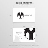 Business Cards Design Template. Name Cards Symbol. Size 55 mm x Stock Image