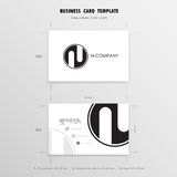 Business Cards Design Template. Name Cards Symbol. Size 55 mm x Royalty Free Stock Photos