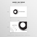 Business Cards Design Template. Name Cards Symbol. Size 55 mm x. 90 mm 2.165 in x 3.54 in.Vector illustration Royalty Free Stock Photo