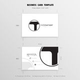 Business Cards Design Template. Name Cards Symbol. Size 55 mm x Stock Photos