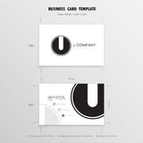 Business Cards Design Template. Name Cards Symbol. Size 55 mm x Royalty Free Stock Photo