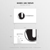 Business Cards Design Template. Name Cards Symbol. Size 55 mm x Stock Photo